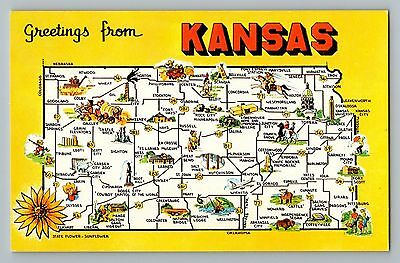 KANSAS, STATE MAP - Postcard - Vintage - $0.99 | PicClick on friend kansas map, iowa kansas map, wichita kansas map, google kansas map, zip code kansas map, downtown kansas city map, old kansas city map, cartoon kansas map, vintage kansas map,