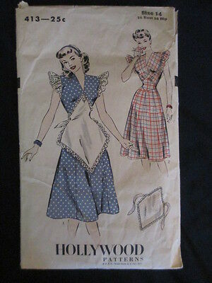 Vintage Hollywood Sewing Pattern 1950s Dress & Apron
