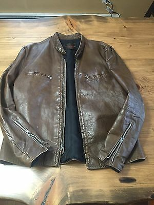 True Vintage Men's Motorcycle Jacket