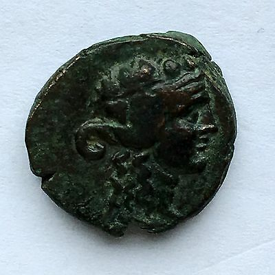 Ancient Greek Coin, Maeonia, Lydia, 250 BC, Dionysus with Grapes, VF toned