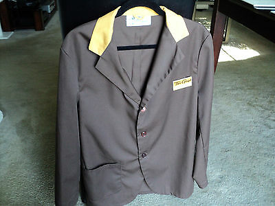Two Guys Dept Stores Manager's Jacket w/Badge:Super-Rare 1976 Vintage Exc Cond!!