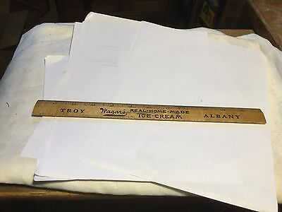 Vintage Advertising Ruler Wagars Real Home Made Ice Cream, Troy , Albany