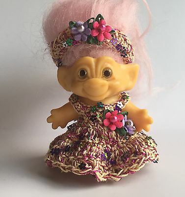 "Troll Doll Clothes for 2 1/2""-2 3/4""  Vintage Dam Sequin"