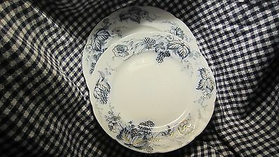 """Antique- Alfred Meakin- Two  (2)-9""""  Plates- """"Bramble""""- Flow Blue"""