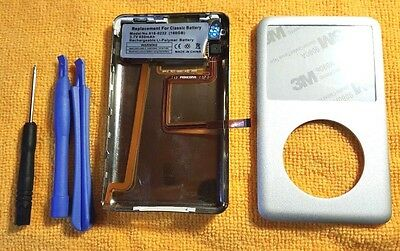 iPod classic 6th 80GB Silver back cover front case Rebuild kit