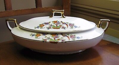 HOMER LAUGHLIN Asiatic Pheasant Indian Tree COVERED VEGETABLE BOWL K5713