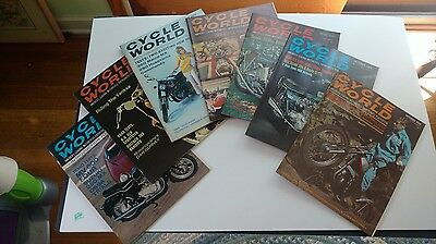 Lot of 7 vintage magazines CYCLE WORLD 1968 Nice lot!