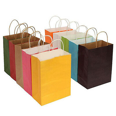 Kraft Paper Gift Carry Shopping Bag Wedding Party Merchandise Boutique Gift Bags