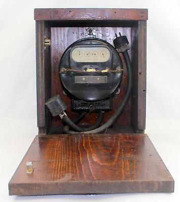 c.1918 Antique Portable WESTINGHOUSE OA Watt Hour Watthour Meter Mounted in Box
