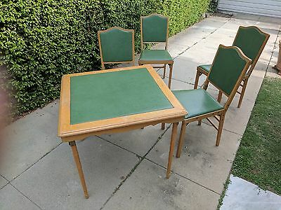 1950's Leg-O-Matic Card Table and Chairs