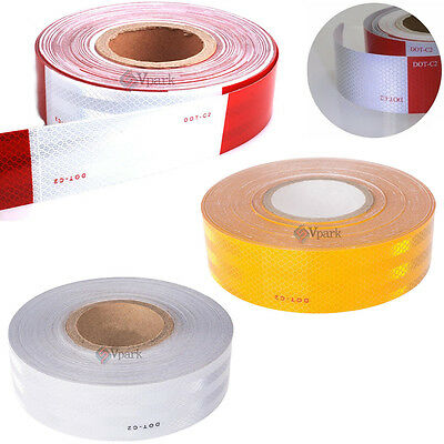 """Conspicuity Tape DOT-C2 Approved Reflective Trailer Red White Yellow 2""""x150'Roll"""