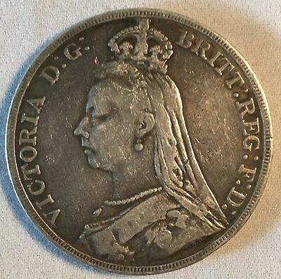 Great Britain 1891 Crown Coin
