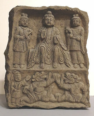 Ancient Carved Stone Maitreya Buddha Stele 6th century A.D.   Wei Dynasty  China
