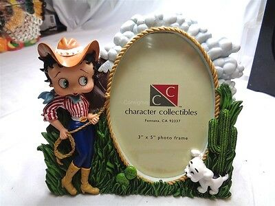 """Betty Boop Cowgirl Photo frame holds 3"""" x 5"""" photo"""