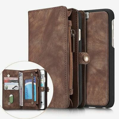 Leather Removable Wallet Magnetic Flip Card Coins Case Cover for Apple iPhone 7