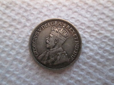 1919 Canadian Dime--92.5 % silver--nice detail remains