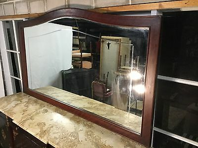 Huge French Vintage-Antique Wall-Mantle Timber Frame Mirror-Can Deliver