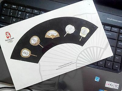 2008 Beijing Olympic Official Chinese Fans Pin Set With Box