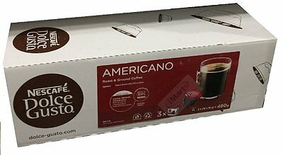 NESCAFE Dolce Gusto AMERICANO Roast & Ground 48 Coffee Pods Capsules brand new