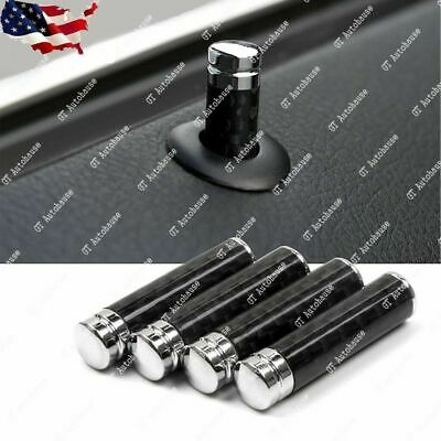 4x Door Lock Pins Knob Black Carbon Fiber for BMW 1 3 5 7 Series X1 X3 X4 X5 X6