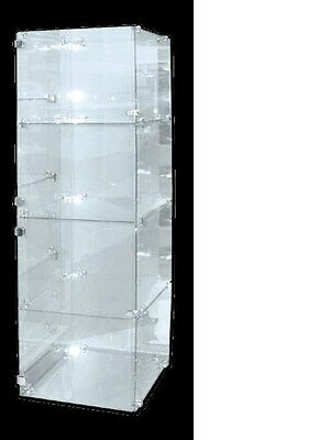 Glass Display Case 4 Level Unit-5mm Tempered Glass-1900 x 400 X 400 mm- Showcase