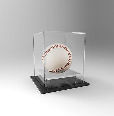 Baseball Display Case Acrylic Perspex - Signed Ball, Memorabilia - SILVER