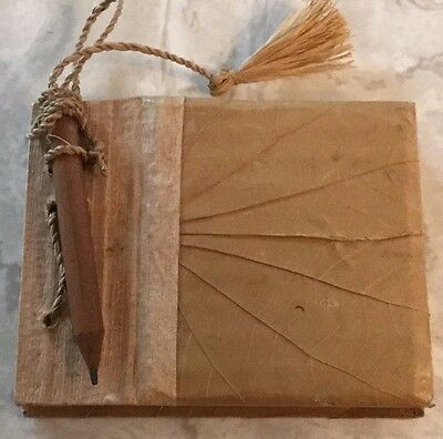 """Mini Cardboard Journal Blank Textured Pages w/Pencil 4"""" x 3""""  Book Writing"""