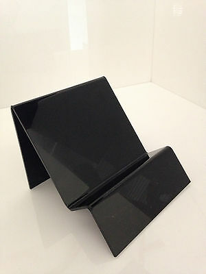 Display Stand Acrylic Perspex  BLACK Gloss 3mm  - Books DVDS BRochures Product