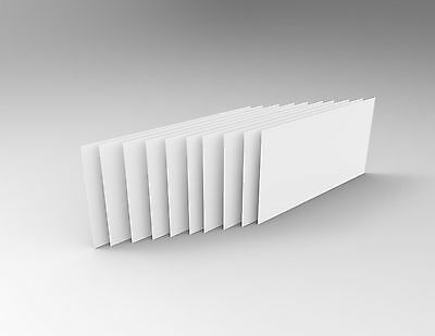 A4 WHITE 10 Pack 3mm - UV Acrylic Perspex Sheet Signage Framing White Board Sale