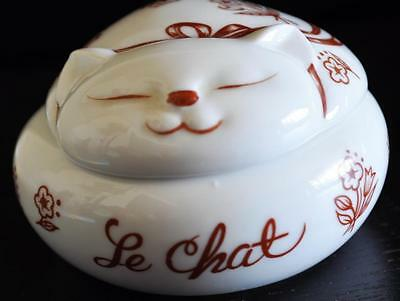 Vintage Le Chat Cat Candle Trinket Box  Japan  Kitten Gift Figurine  Mchm#30