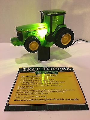 Rare John Deere Tractor Light Up Tree Topper Hard to Find!