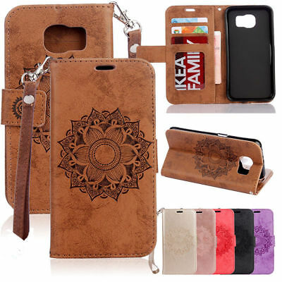 Painted Magnetic Strap Leather Wallet Card Stand Case Cover For Samsung S5 J3 J5
