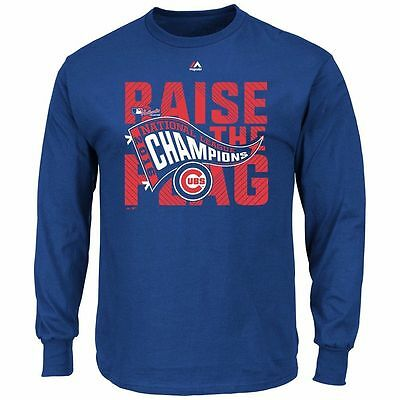 Chicago Cubs 2016 Mlb World Series Champs Long-Sleeve T-Shirt-Brand New With Tag