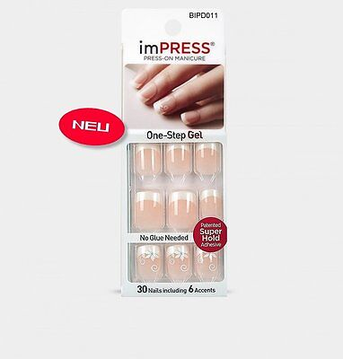 imPRESS Nails ON FIRE French Künstliche Fingernägel Press-On Nails Kiss/Broadway