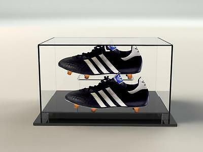 Acrylic Perspex Double Boot Shoe Premium Display Case Autographed memorabilia