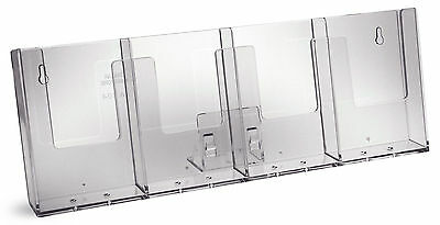 Taymar DL, 4 Pocket (side by side) Brochure Holder - 4W104-B