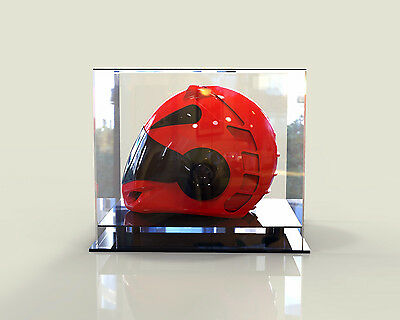 Motorcycle Motorbike Motorcross Bike Helmet Perspex Acrylic Deluxe Display Case