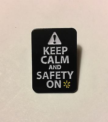 Rare Walmart Pin Keep Calm An Safety On
