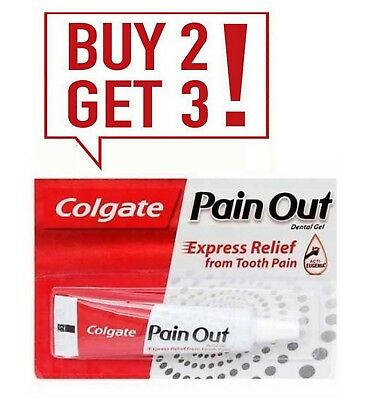 Colgate Pain OUT Dental Gel 10g Express Relief For Tooth Pain Buy 2 Get 3