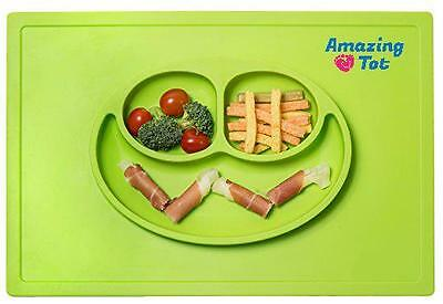 Silicone Placemat Plate Feeding Dinning Food Tray Table Mat Cloud For Baby Kids