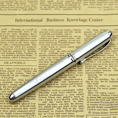 Unique design Silver Jinhao X750 Stainless Steel Medium 18KGP Nib Fountain Pen