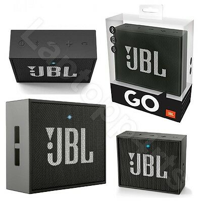 JBL Go Ultra Portable Rechargeable Bluetooth Speaker With Safety Sheet Black New