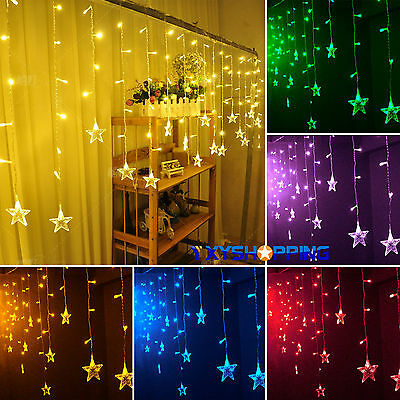 Star Hanging Curtain String Lights Fairy LED Lamps Christmas Wedding Party Decor