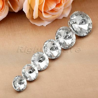 10pcs 6 Sizes Diamond Bright Crystal Upholstery Sofa Decoration Sewing Buttons