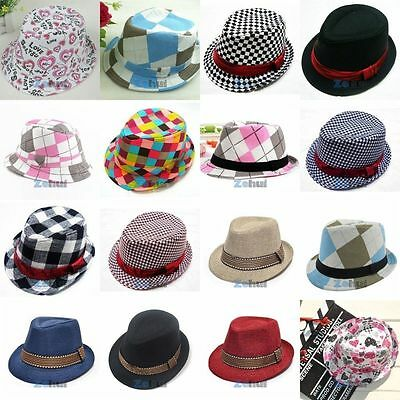Baby Girl/Boy Toddler Kid Cap Fedora Hat Jazz Caps Photography Cotton Trilby Top