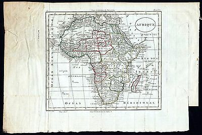 Map of Africa, handcoloured, 215mm x 190mm, undated but 18th/ early 19th C