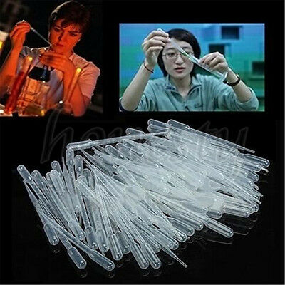20X 1/2/3/5/10ML Disposable Plastic Eye Dropper Set Transfer Graduated Pipettes
