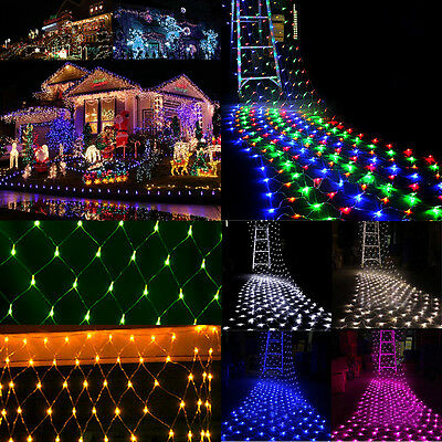 Web Net Fairy String Lights Christmas Wedding Party Outdoor Xmas Decoration LED