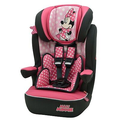 Disney Minnie Mouse Pink Dots Imax Car Seat, Group 1/2/3 High Back Booster Seat