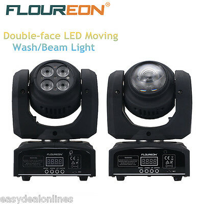 2PCS 50W Cree LED Moving Head Double Face Led Beam Stage Light RGBW DMX512 DJ FR